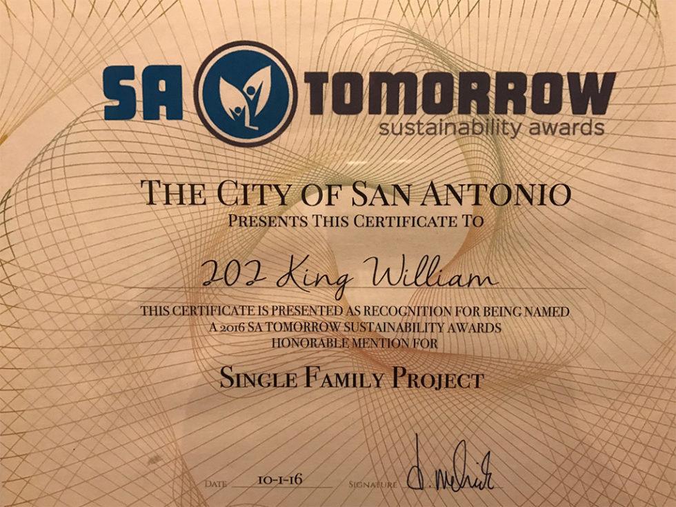 Winner of the SA Tomorrow Sustainability Award